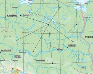 Streckenflugmöglichkeiten in der Umgebung <br/><small>© Bundesamt für Kartographie und Geodäsie, Frankfurt am Main Vervielfältigung, Verbreitung und öffentliche Zugänglichmachung, auch auszugsweise, mit Quellenangabe gestattet.</small>