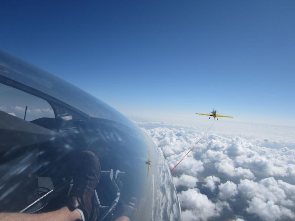Die B13 bei der Flugerprobung auf dem Idaflieg-Sommertreffen